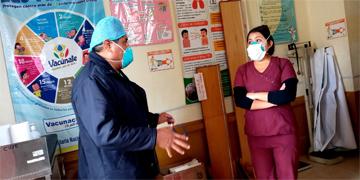 NOTA 74 - DIRECTOR DEL HOSPITAL DE HUARAL REALIZA VISITAS INOPINADAS A LOS PUESTOS DE SALUD DE CUYO Y LUMBRA.