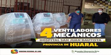 NOTA 78 - HOSPITAL DE HUARAL RECIBE EQUIPOS MÉDICOS PARA FORTALECER LA UNIDAD DE CUIDADOS INTENSIVOS EN LA LUCHA CONTRA EL COVID-19