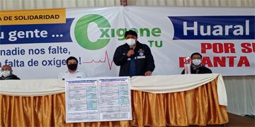 """NOTA 84- DIRECTOR DEL HOSPITAL PARTICIPA EN LA CONFERENCIA DE PRENSA DE LA CRUZADA SOLIDARIA OXÍGENATÓN """"PODEMOS SALVAR VIDAS EN HUARAL"""""""