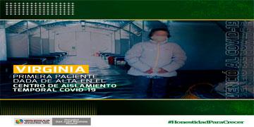 NOTA 98-VENCIÓ AL CORONAVIRUS Y ES LA PRIMERA PACIENTE DADA DE ALTA EN EL CENTRO DE AISLAMIENTO TEMPORAL.