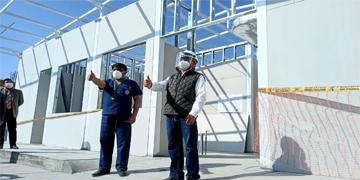 NOTA 119-GOBERNADOR REGIONAL DE LIMA INSPECCIONA LOS TRABAJOS DE IMPLEMENTACIÓN DE LA UNIDAD DE CUIDADOS INTENSIVOS DEL HOSPITAL DE HUARAL.