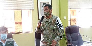 NOTA 009-COMANDO COVID-19: Se presenta a nuevo comandante de la Base Policía Militar N° 21 - Chancay.
