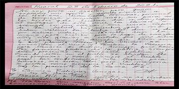 NOTA 032-PACIENTE ESCRIBE CONMOVEDORA CARTA DE AGRADECIDEMIENTO AL PERSONAL DEL HOSPITAL DE HUARAL.