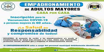 NOTA 036-SE INICIÓ EMPADRONAMIENTO DE ADULTOS MAYORES PARA PROCESO DE VACUNACIÓN CONTRA EL CORONAVIRUS