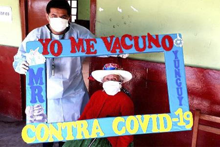 NOTA 043-Se inició la vacunación COVID-19 a los Adultos Mayores en el distrito de Ihuari