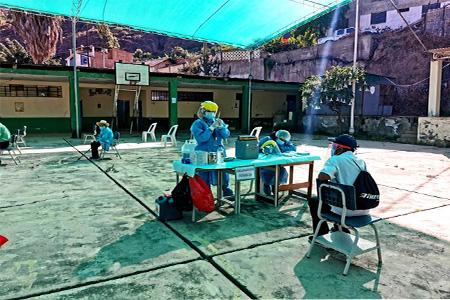 NOTA 044-Se inició la vacunación COVID-19 a los Adultos Mayores en el distrito de Atavillos Bajo