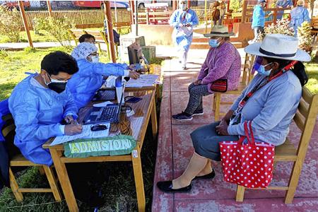 NOTA 045-Se inició la vacunación COVID-19 a los Adultos Mayores en el distrito de Atavillos Alto