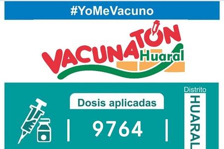 NOTA 061:SE PROTEGIÓ A 9 764 PERSONAS EN LA VACUNATON HUARAL