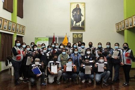 NOTA 067:CAPACITACIÓN DE PRIMEROS AUXILIOS DIRIGIDOS A LAS BRIGADAS COMUNITARIAS DEL DISTRITO DE HUARAL