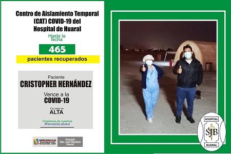 NOTA 064:SON 465 PERSONAS RECUPERADAS EN EL CENTRO DE AISLAMIENTO TEMPORAL DEL HOSPITAL DE HUARAL