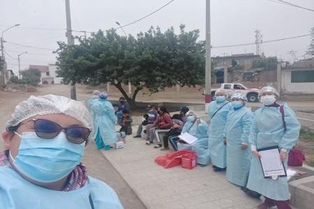NOTA 083:MICRO RED HUARAL. El equipo de profesionales de la salud intervienen diversos centros poblados en el ámbito de su jurisdicción.